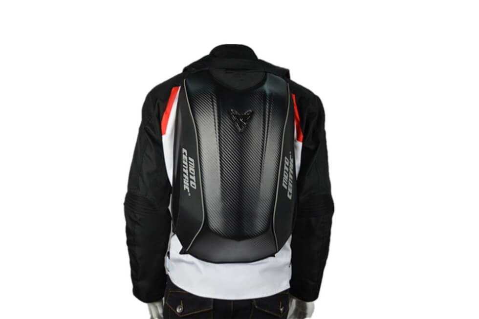 0322752747 MOTO CENTRIC レーシング バイクウエア ツーリング 防水 炭繊維 摩耗性 リュックサック レア物 容量アップ トップ (黒)